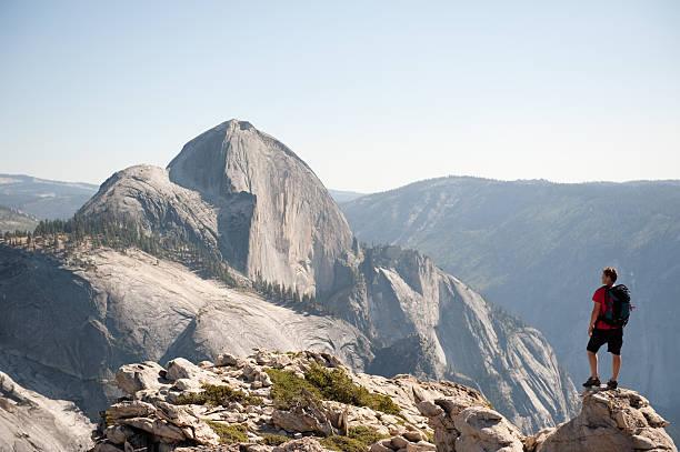 Backpacking in Yosemite stock photo
