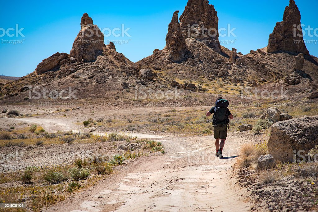 Backpacking the Desert Southwest stock photo