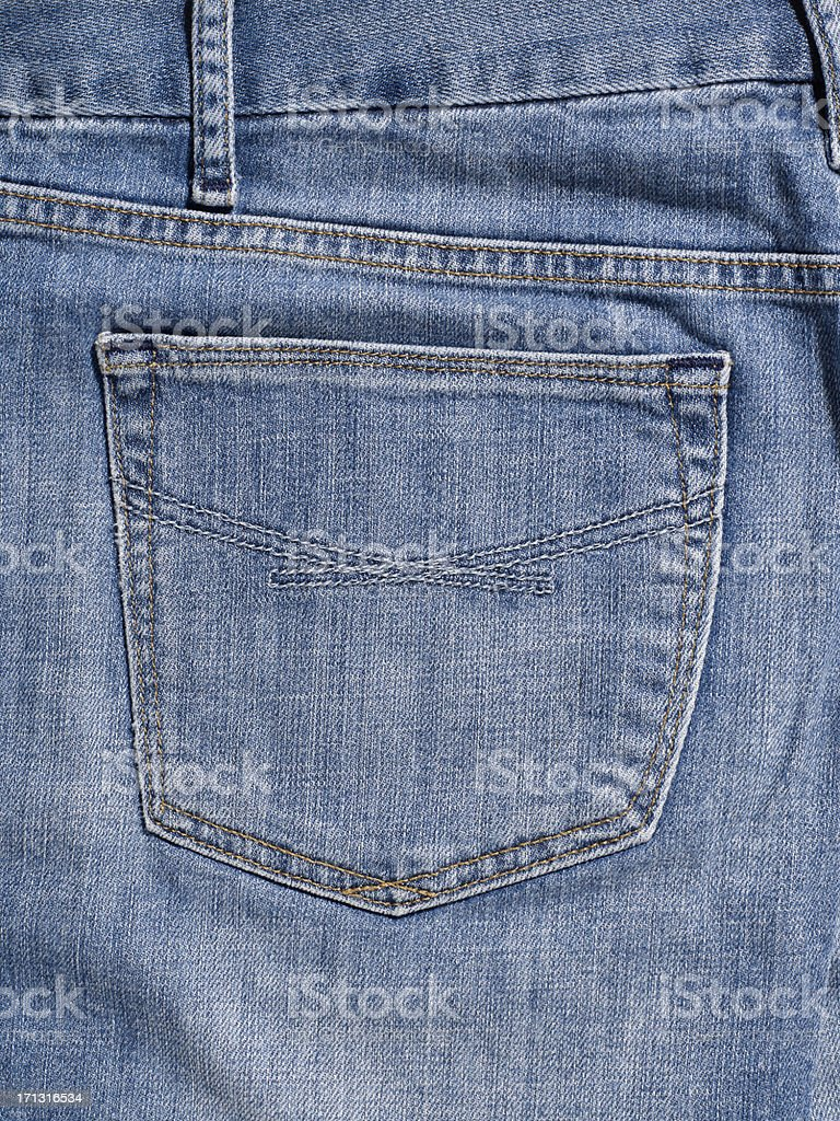 Backpocket of Jeans royalty-free stock photo