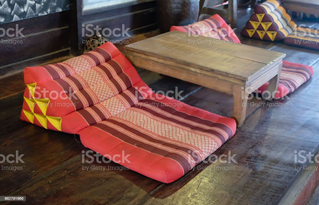 backrest pillow stock photo