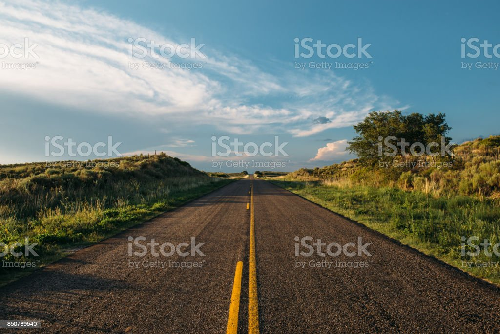 Backroad in Texas Above the Ogallala Aquifer stock photo