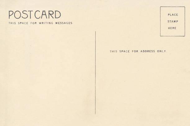 空白明信片的背面 - postcard 個照片及圖片檔