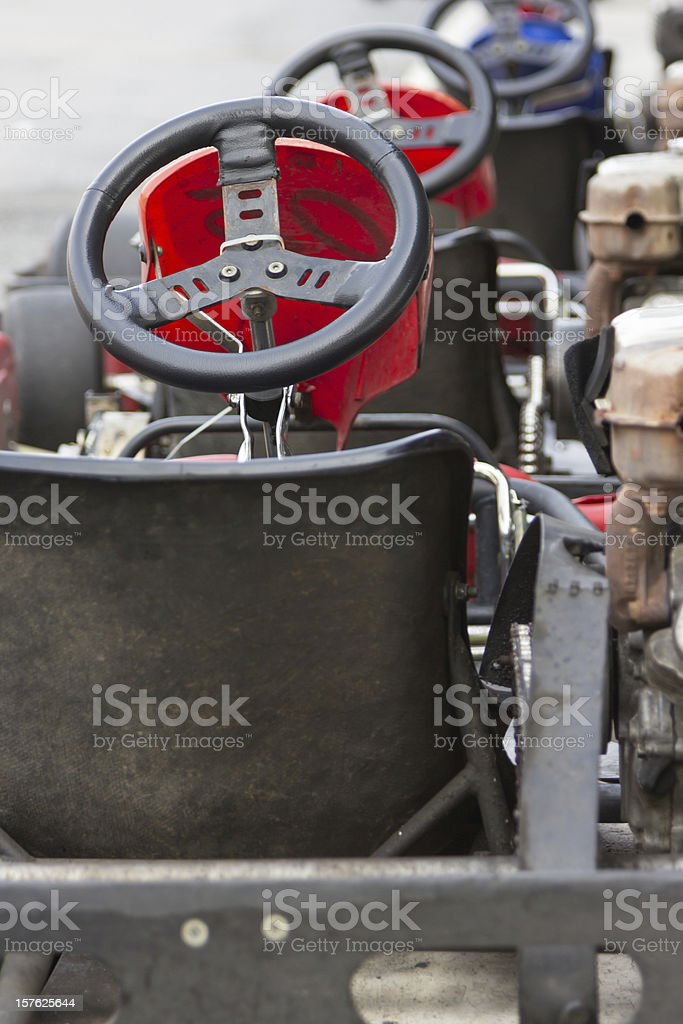 Backside Of Gokart Ready To Start Stock Photo - Download Image Now