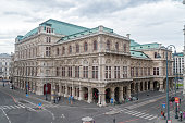 Vienna, Austria - August 30, 2020: Backside of the State Opera in the Center of Vienna.