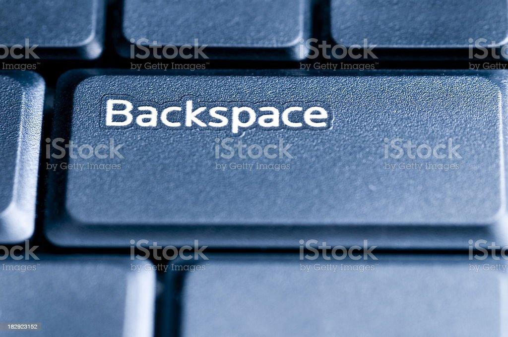 Backspace, Computer Key stock photo