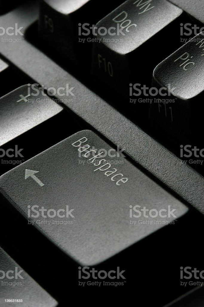 backspace key stock photo