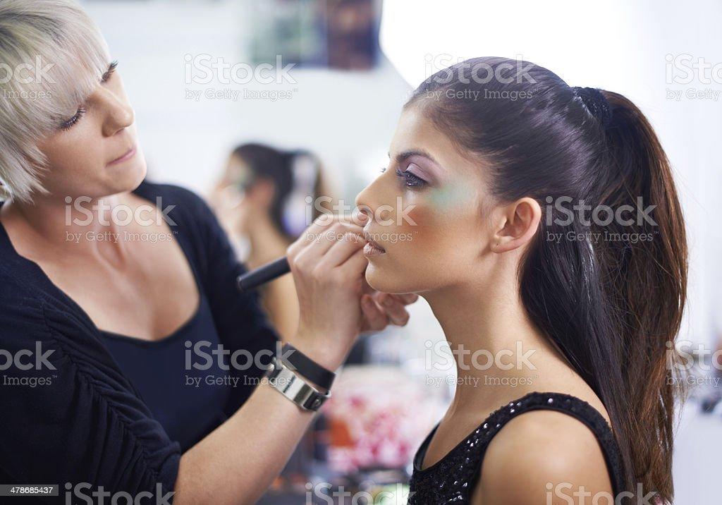 Backstage beauty stock photo