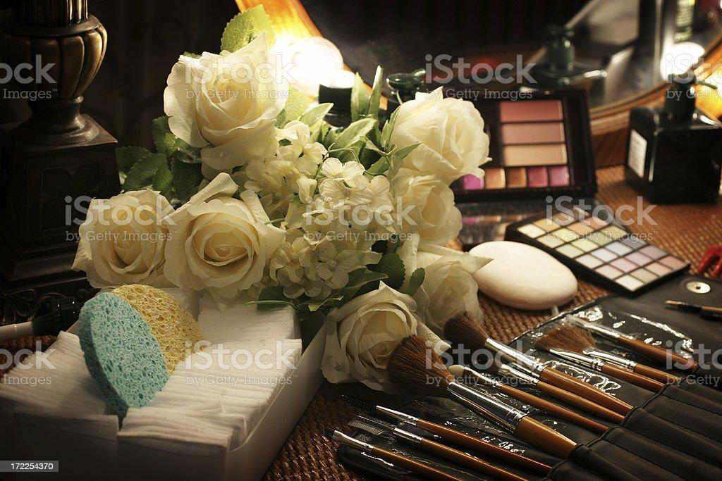 Backstage Makeup Tools royalty-free stock photo