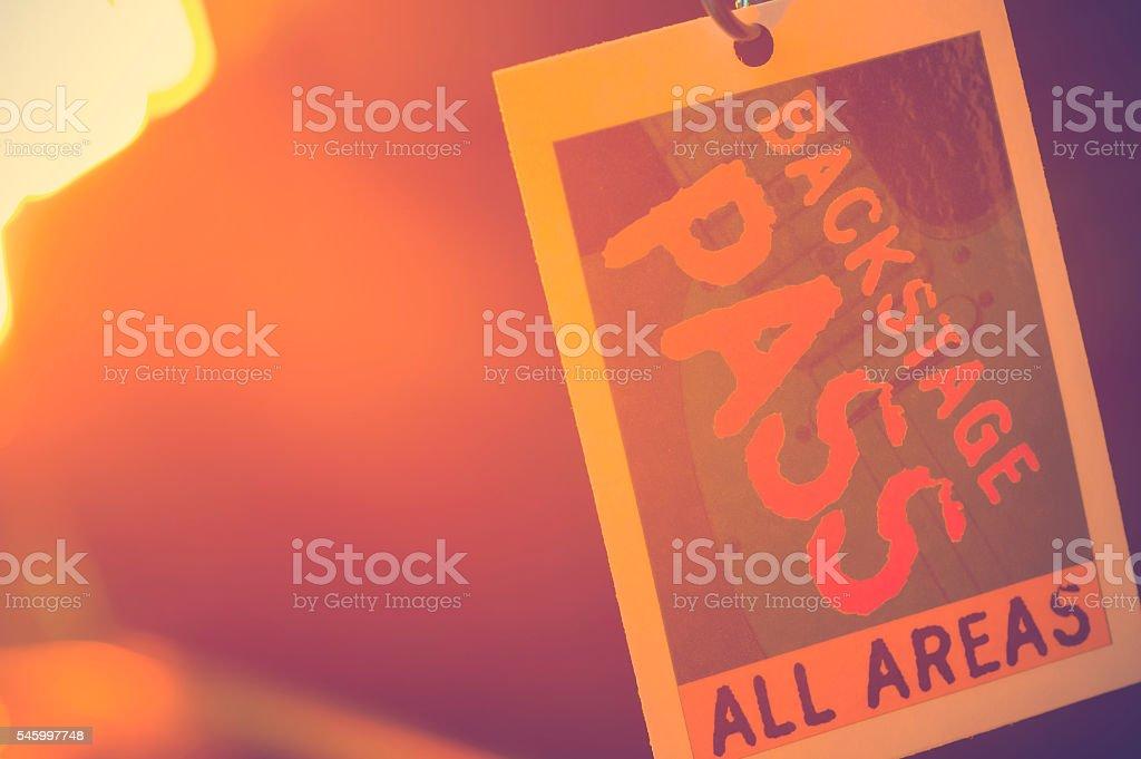 Backstage pass. stock photo