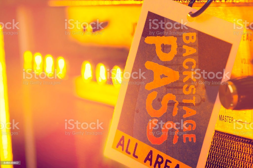 Backstage pass. stock photo
