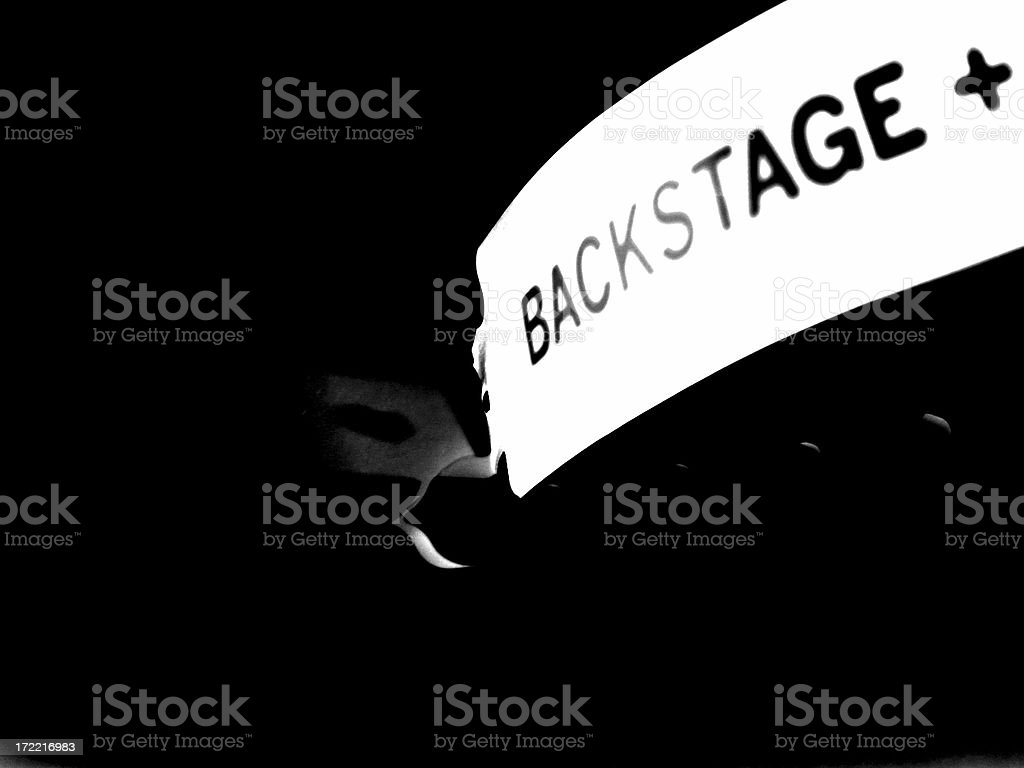Backstage stock photo
