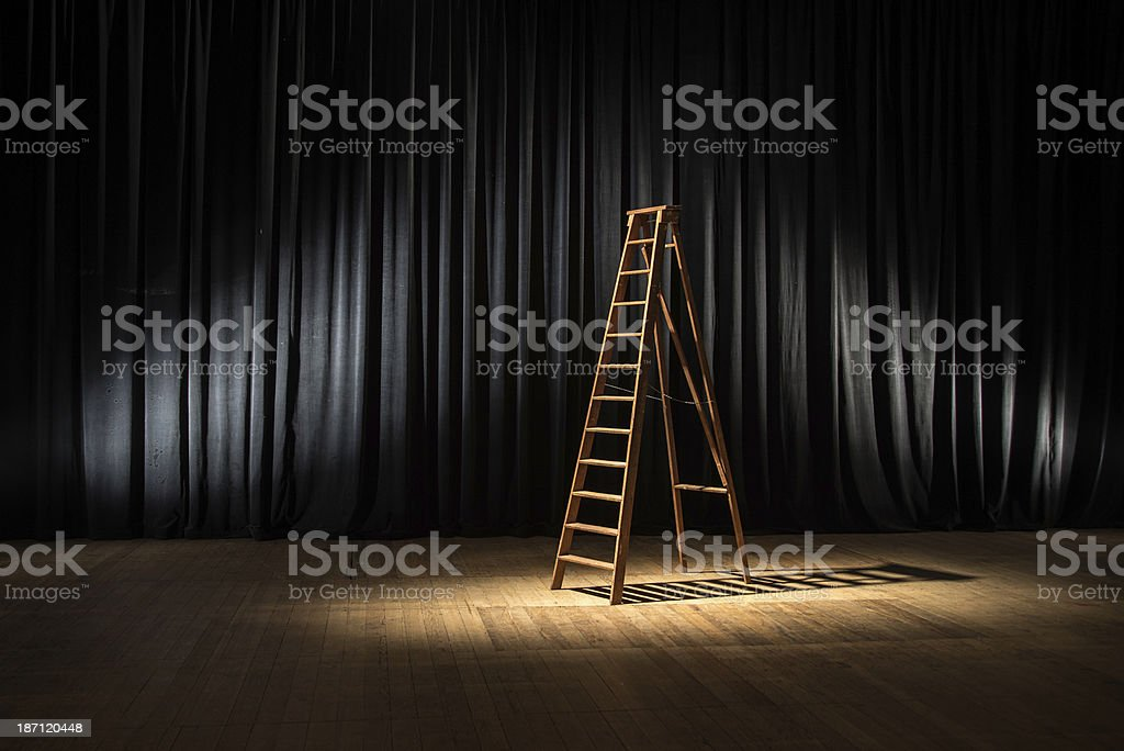 Backstage Stairs stock photo