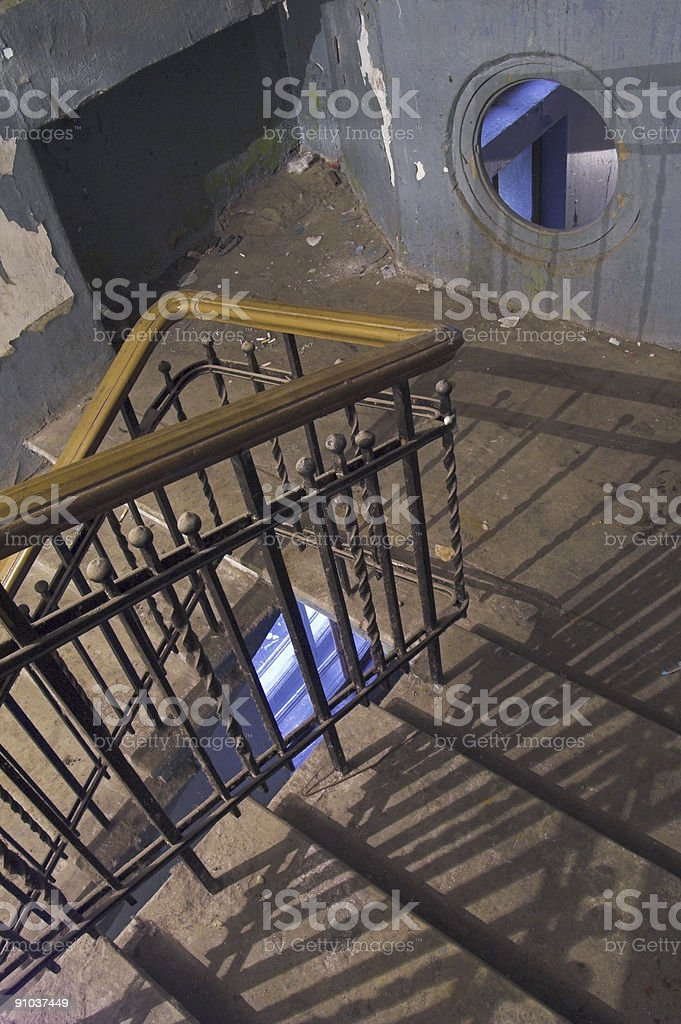 Backstairs stock photo