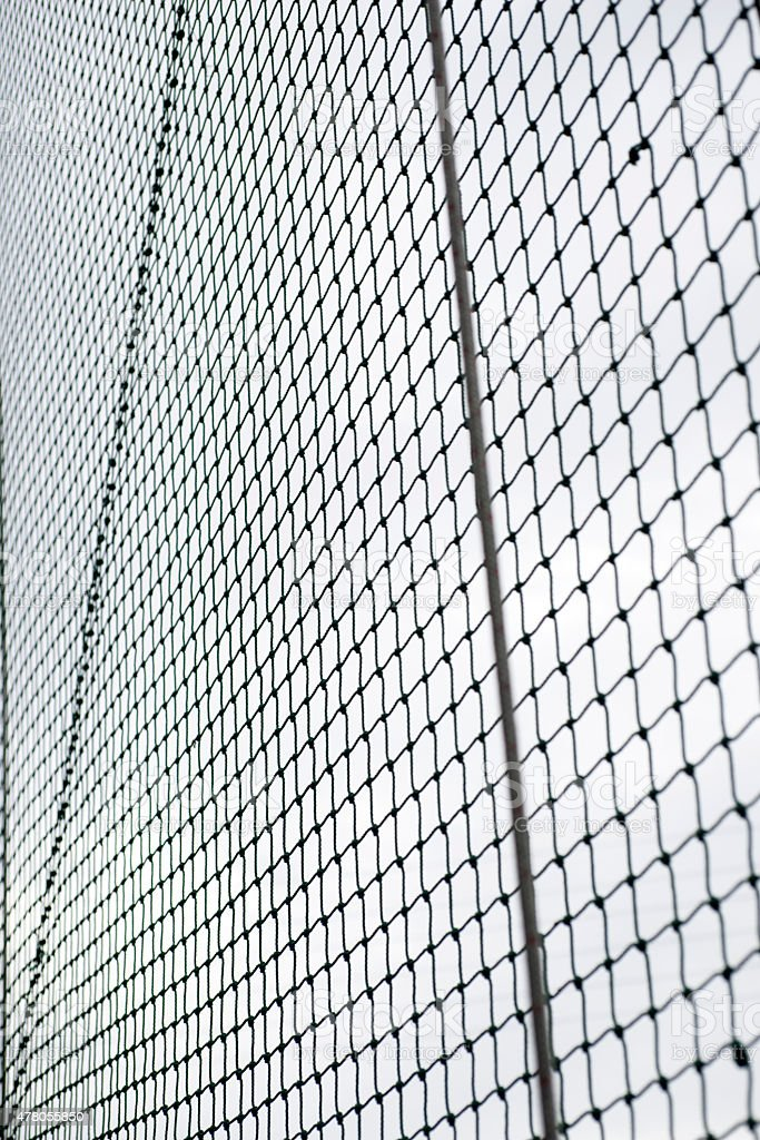 backstop of baseball field stock photo
