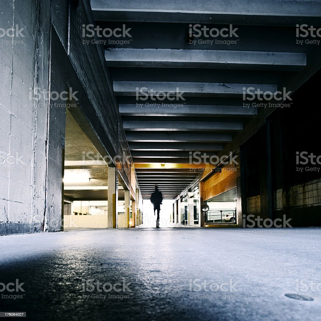 backstreet corner royalty-free stock photo