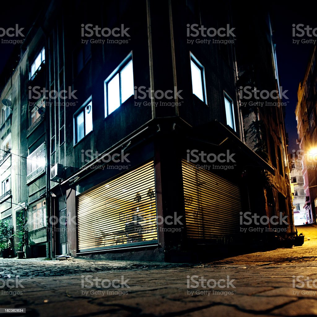 backstreet corner stock photo