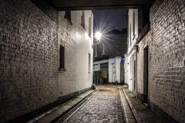 Backstreet in Marylebone, London stock photo