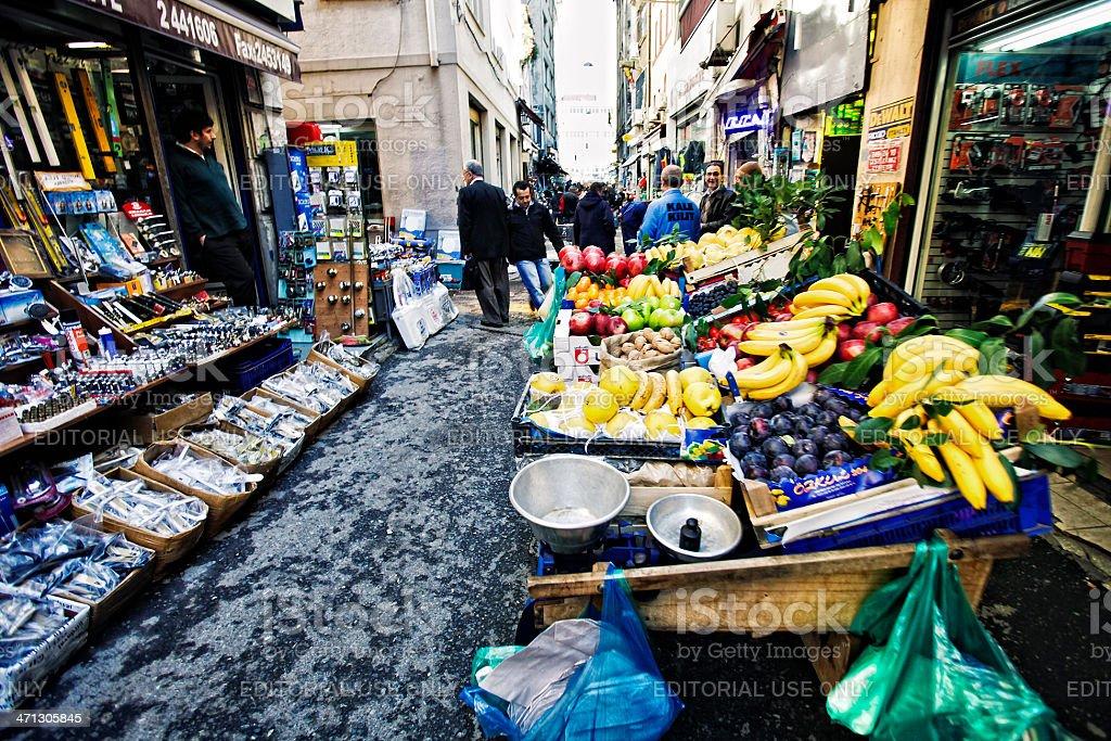 Der Backstreet Markt-Szene. – Foto