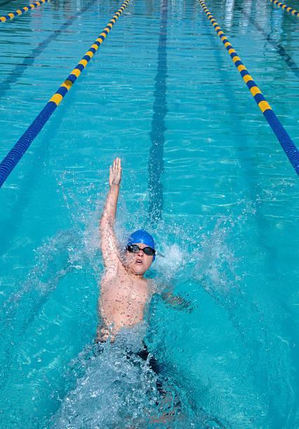Backstroke Boy stock photo