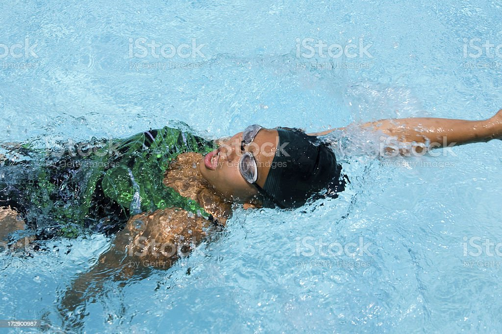 Backstroke stock photo