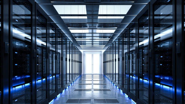 back-up cloud data service center. - datacenter stockfoto's en -beelden