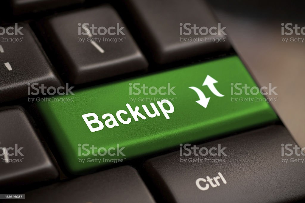 Backup Computer Key stock photo