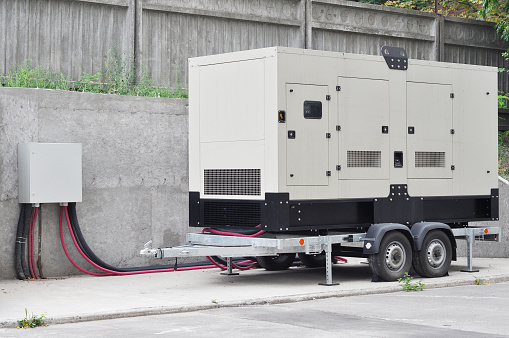 Backup Generator for Office Building Сonnected to the Control Panel