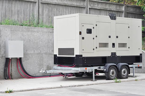 generador de backup de edificio de oficinas сonnected para el panel de control - generadores fotografías e imágenes de stock