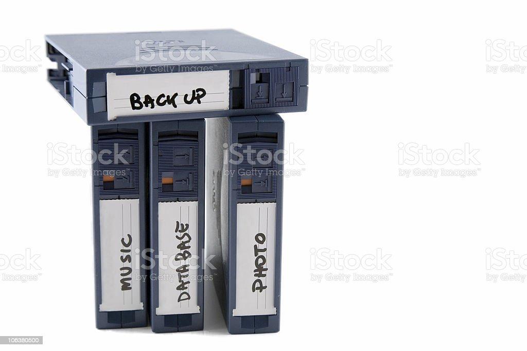 backup tape royalty-free stock photo