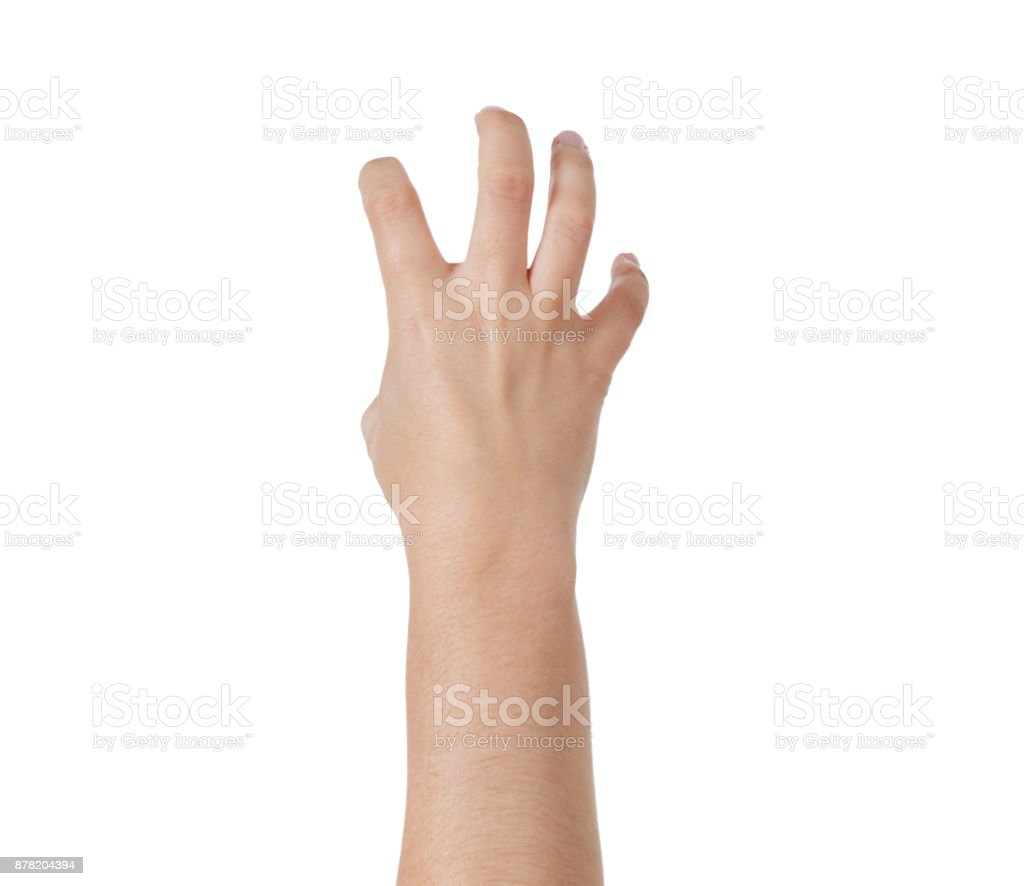 Backview Of Hand Making Claw Gesture Stock Photo & More Pictures of ...