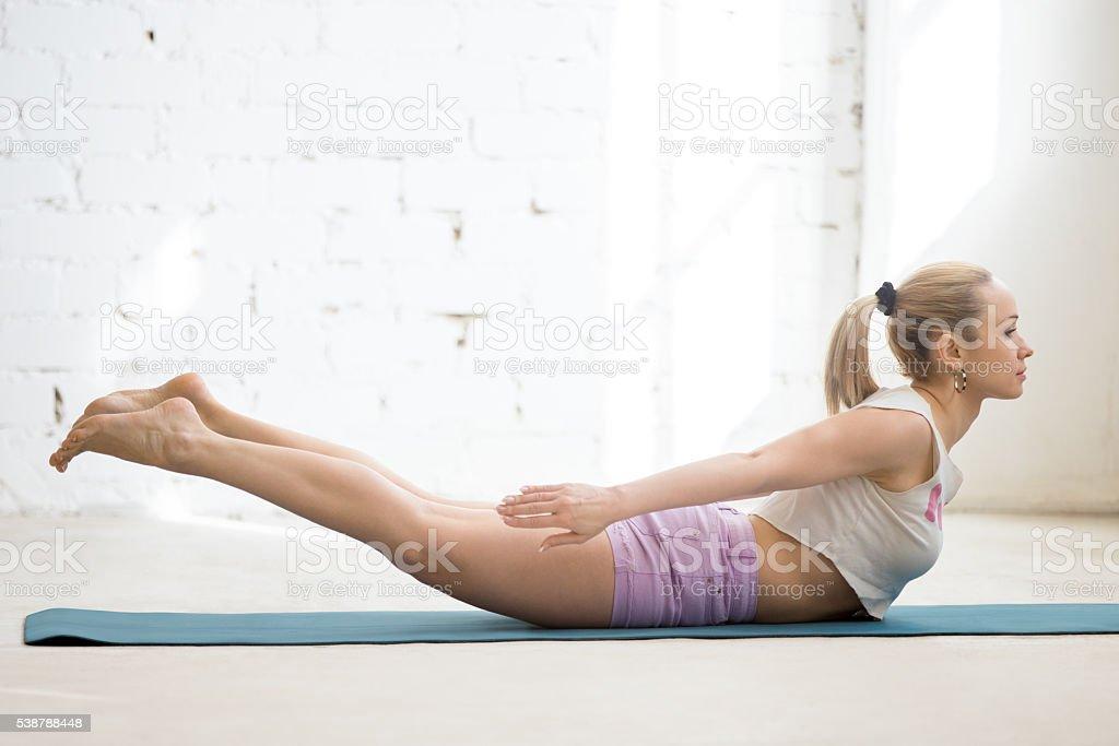 Backward extension exercise stock photo