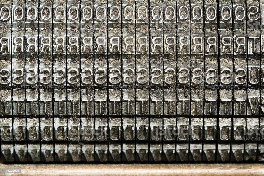 Backward Letters royalty-free stock photo