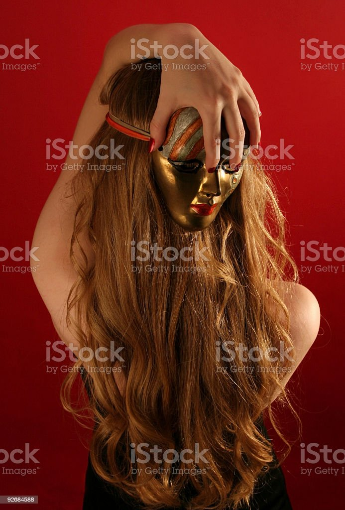 Backwards Face royalty-free stock photo