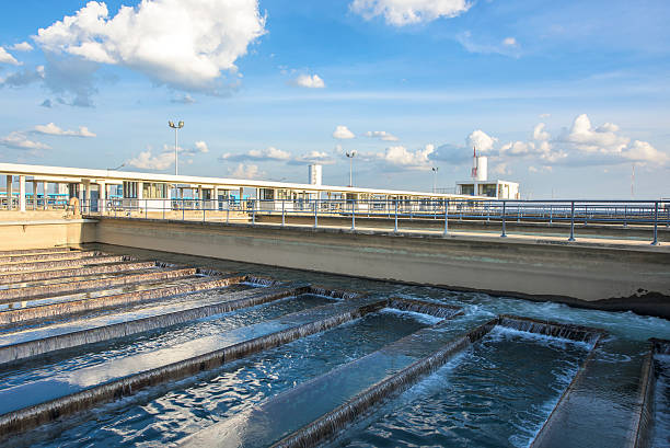 Backwash Prozess in Wasseraufbereitungsanlage – Foto