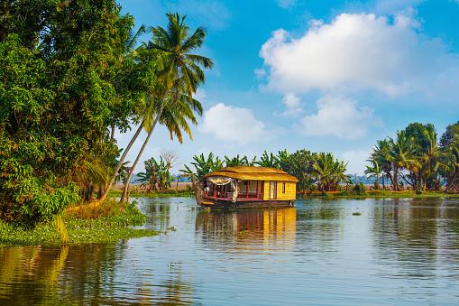 Houseboat on Kerala backwaters - India