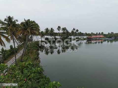 The Kerala backwaters are a network of brackish lagoons and lakes lying parallel to the Arabian Sea coast of Kerala state in southern India, as well as interconnected canals, rivers, and inlets, a labyrinthine system formed by more than 900 kilometres of waterways, and sometimes compared to American bayous.