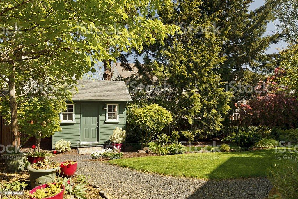 Backyard and Garden Shed stock photo