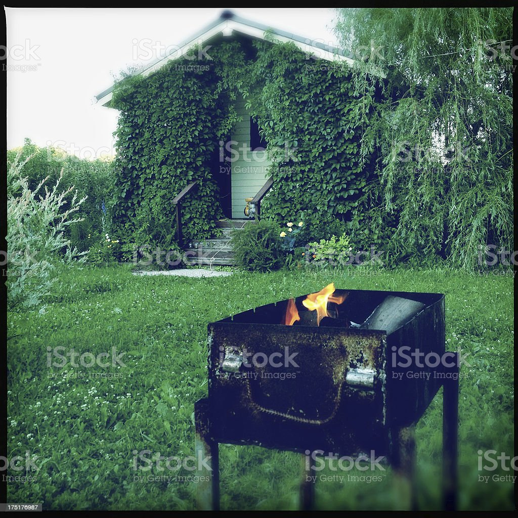 Backyard barbecue royalty-free stock photo