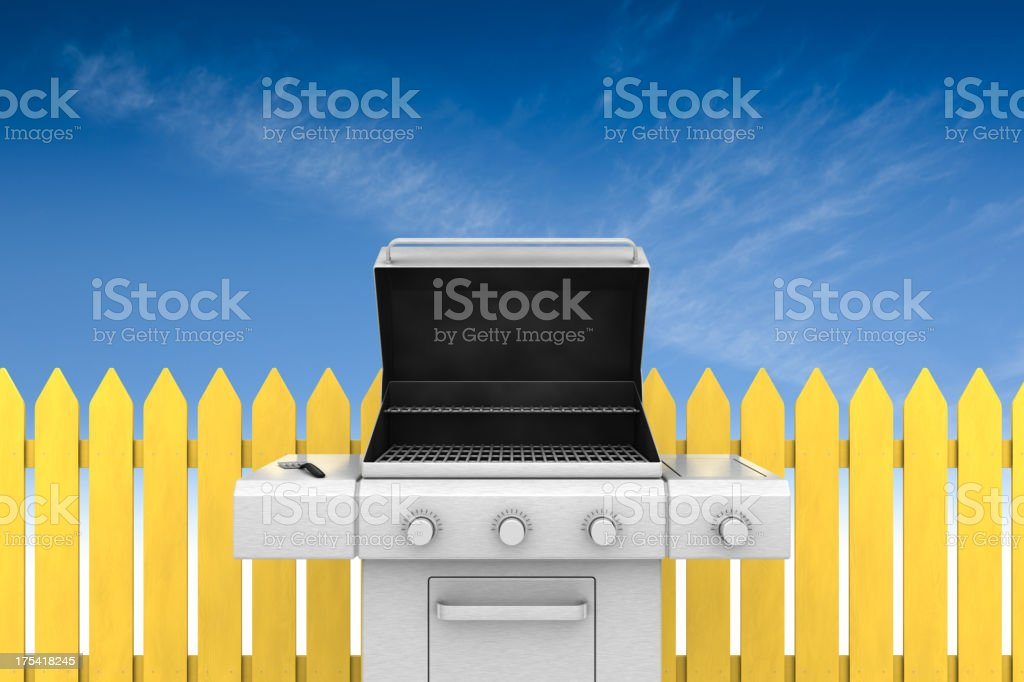 Backyard Barbecue royalty-free stock photo