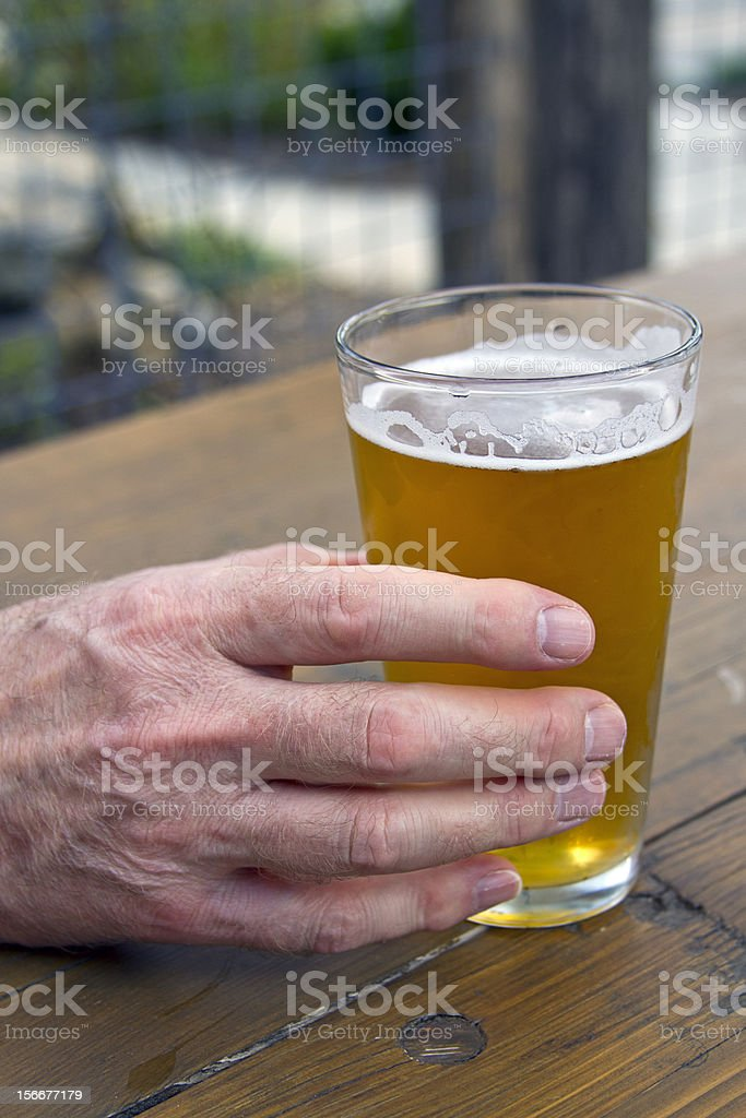 Backyard Beer royalty-free stock photo