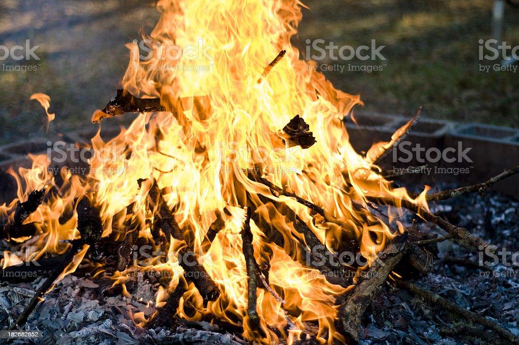 Backyard Bonfire royalty-free stock photo