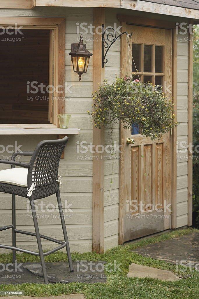 Backyard Cabana detail royalty-free stock photo