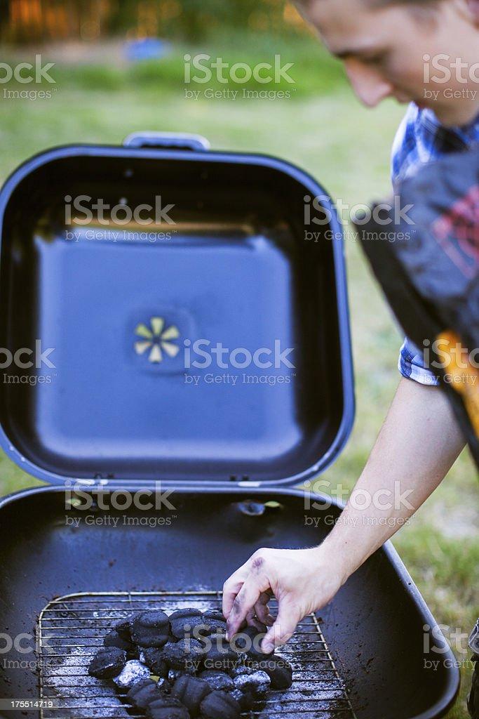 Backyard Charcoal BBQ stock photo