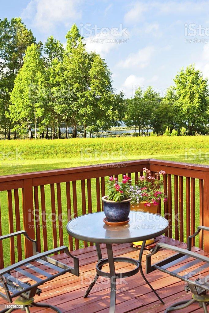 Backyard Deck royalty-free stock photo