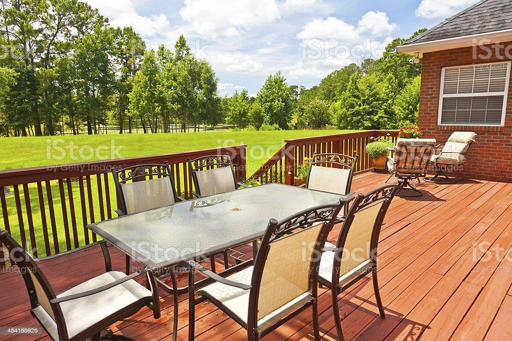 Backyard Deck stock photo