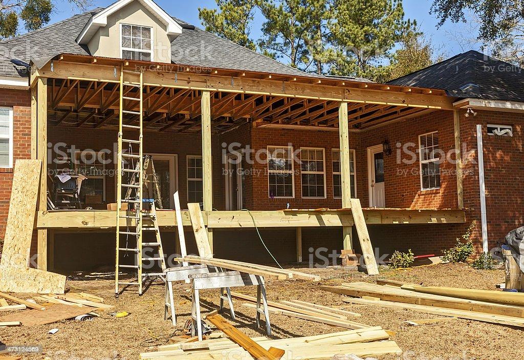 Backyard Deck Reconstruction stock photo