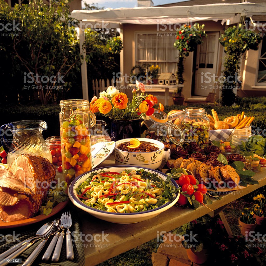 Backyard Feast royalty-free stock photo
