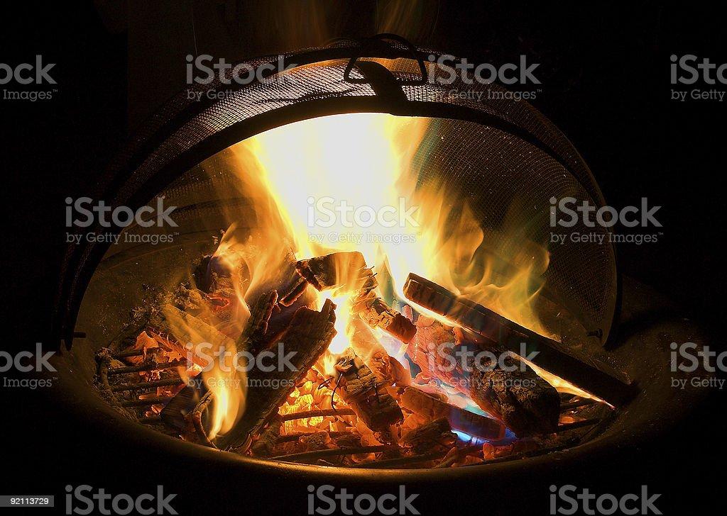 Backyard Fire royalty-free stock photo