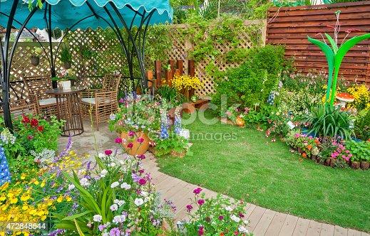 istock backyard flower garden 472848544