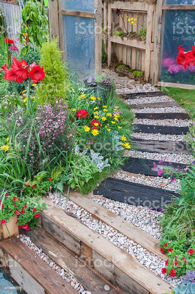 backyard garden stock photo